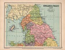 1934 MAP ~ ENGLAND & WALES NORTH ~ NORTHUMBERLAND DURHAM YORK LANCASHIRE