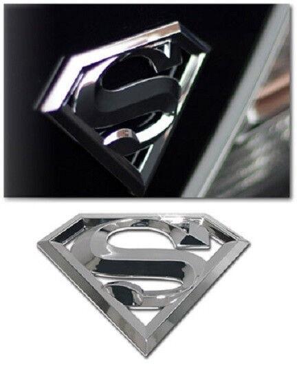 Superman 3-D Chrome Metal Auto Emblem (NEW) 3D Super Man Car Decal Sticker MVP