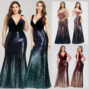Ever-Pretty-Sexy-V-neck-Party-Evening-Dress-Long-Sequins-Mermaid-Prom-Gown-07767