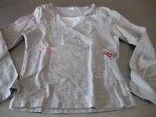Shirt T-Shirt TCM Gr. 122 / 128 Grau/Weiß 2in1 Langarm Ornamente sehr schön