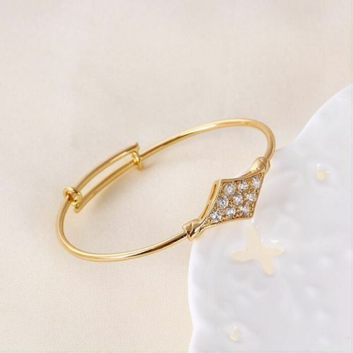 "Baby toddler Bangle Bracelet 44mm 9ct 9K Yellow /""GOLD Filled/"" CZ Gift,1080"