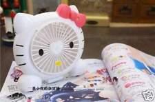 Hello Kitty Portable Rechargeable USB Desktop Low Noise Cooling Double Blade Fan