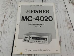 image is loading fisher-mc-4020-audio-component-system-service-manual-