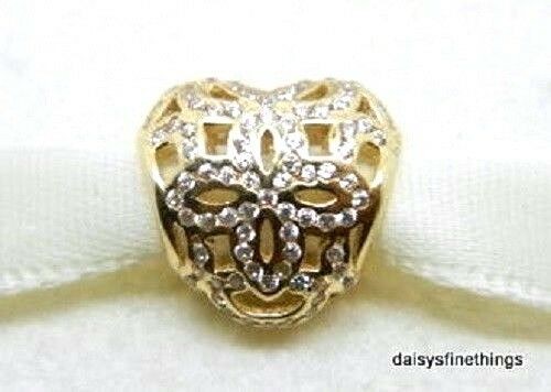 9fb663d7a Authentic PANDORA 750837cz Love & Appreciation 14k Gold Bead Charm ...