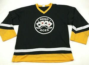 VINTAGE Reno Aces Hockey Jersey Size Extra Large Adult Team Issue GAME WORN 1971
