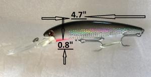 "4.7/"" TROLLING Fishing Lure skipjack jack Mackerel King Striped Bass Mahi Bonito"