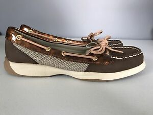Sperry Top Sider Brown Leather Boat Shoes Womens Size 8.5