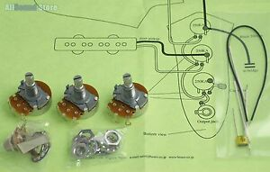 Details about Wiring Kit for Import Fender JAZZ B COMPLETE w/ Diagram on