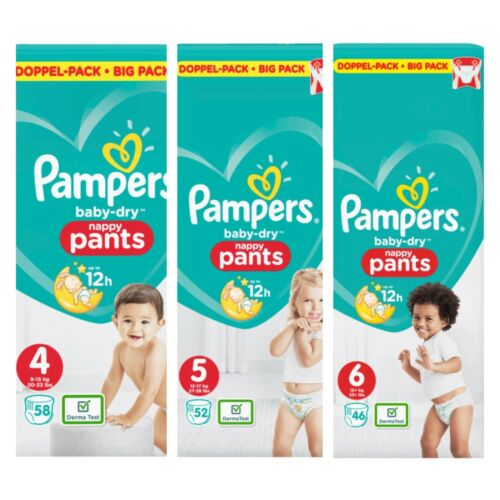 Größe wählbar 7 x Pampers Windeln Baby Dry Pants Big Pack Gr 4 5 oder 6