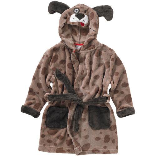 Animal Crazy Childs Boys Girls Puppy Dog Bath Robe Dressing Gown Soft Fleece