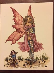 Image Is Loading AMY BROWN FAIRY STICKER 23 4 034 X5