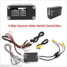 4 Way 360° Parking View 4 Cameras Video Image Split-Screen Control Box Converter