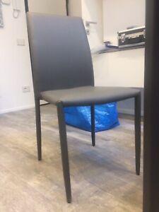 4 sedie modello Cloe (La Seggiola), colore grigio, imbottite in ...