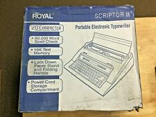 Royal 69147t Scriptor Ii Portable Electronic Typewriter 20 Character Lcd