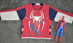 Pull-manches-longues-SPIDERMAN-2-ans-amp-figurine-SPIDERMAN