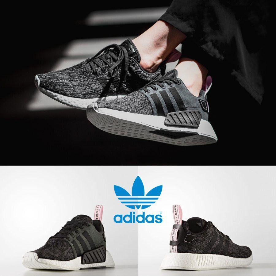 b3a6ffa7905a2 Adidas Unisex Original NMD R2 Runner Black Black Pink BY9314 Size 4-11  Limited. black