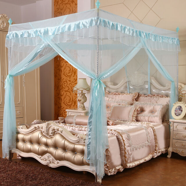Princess Bed Canopy Curtain Mosquito Net Or Frame Post Twin Full Queen King Size