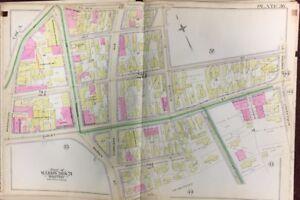 Hotel Boston Map.Orig 1889 G W Bromley Lower Roxbury Boston Ma Hotel Dudley Plat