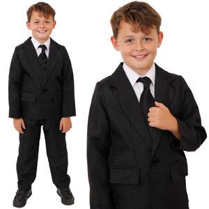 Pelicula-de-TV-Traje-de-Nino-Negro-Fancy-Dress-Costume-Chaqueta-Pantalones-Teatro-Etapa-Mostrar