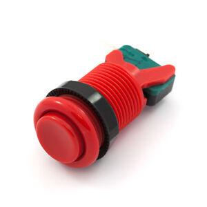 Boton Rojo Arcade Americano Concavo 28mm Con Micro Faston 4.8