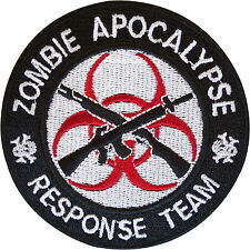 Zombie Apocalypse Response Team Embroidered Patch Badge Iron On / Sew On Clothes