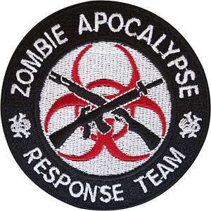 Zombie-Apocalypse-Response-Team-Embroidered-Patch-Badge-Iron-On-Sew-On-Clothes