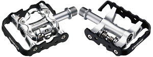 EXUSTAR PM86 DUAL FUNCTION HALF CLIPLESS BIKE   BICYCLE PEDALS - 9 16  SPINDLE