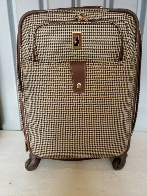 London Fog Luggage Chelsea 29 Inch 360 Expandable Upright Suiter Olive Plaid For Sale Online Ebay