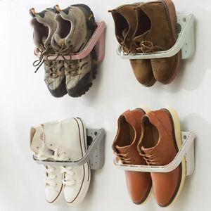 Image Is Loading Creative Wall Door Mounted Hanging Shoes Hooked Shelf