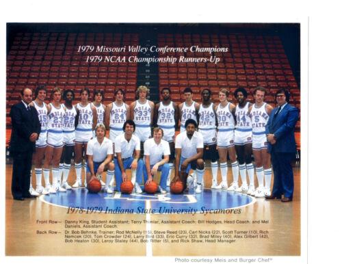 1978 1979  INDIANA STATE 8X10  TEAM PHOTO LARRY BIRD NCAA FINAL FOUR CELTICS
