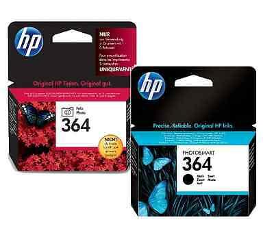 Genuine 1 x HP 364 Black + 1x HP364 Photo Black Original  Inkjet Ink Cartridge