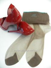 "SASSY 3 Pr HANES 615XL TEAL PICOT TIP Vintage Nylon Stockings  10.5/38"" XL"