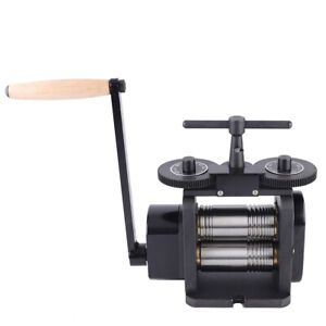 Milling Machine Manual Rolling Mill Jewelry Combination Press Tool Wire Flat Pattern Sheet Metal Jewelry Repair Marking Tools Width 85mm Diameter Rollers for Jewelers Craft-People