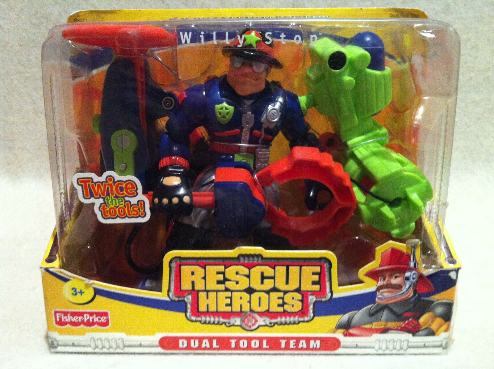 RescueHeroes  Dual Tool Team Willy Stop Police Officer Factory Factory Factory Sealed  a68528