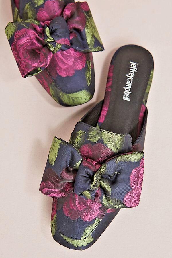 NIB Jeffrey Campbell Ravis Floral Slides-Größe 7