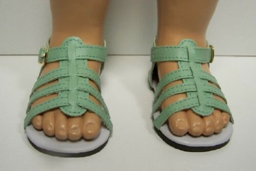 Debs LT GREEN Strappy Sandals Doll Shoes For Chatty Cathy Light