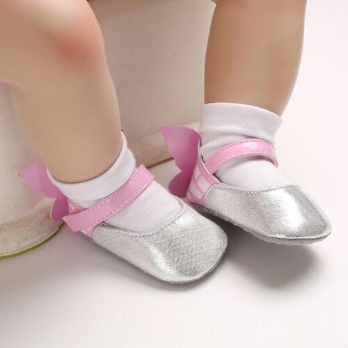 Bébé Nouveau-né Bébé Fille Chaussures papillon doux berceau anti-dérapant Princesse Chaussures US