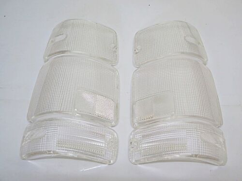 REAR TAIL LIGHT CLEAR LENS L+R 6PCS FOR ISUZU PICKUP 1991-96 HOLDEN RODEO TF TFR