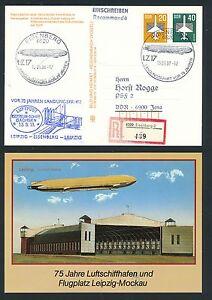 Responsable 97398) Rda Zeppelin Sau Leipzig-eisenberg, So-carte Reco 1988, Mif-afficher Le Titre D'origine éLéGant Dans Le Style
