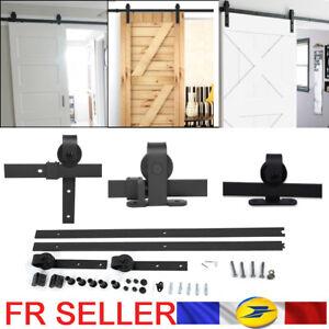 Systeme-ferrure-de-porte-coulissante-rail-de-roulement-kit-de-montage-6-6-6ft