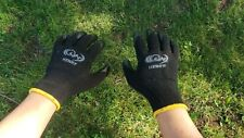80 Pairs Premium Black Latex Rubber Coated Palm Work Gloves Large
