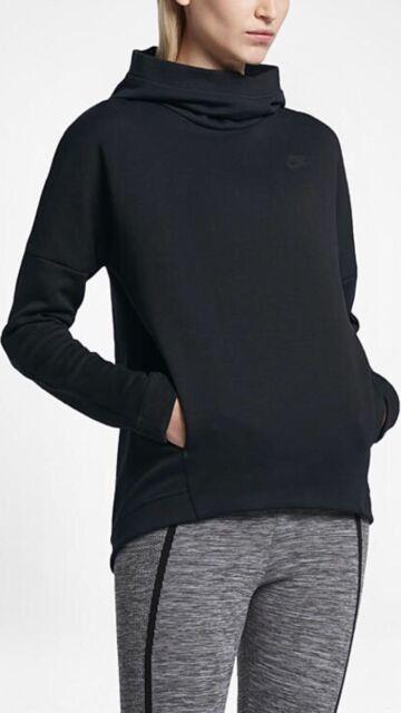 792428cbb122 Nike Sportswear Tech Fleece Women s Long sleeve Pullover Hoodie Black 844389  010
