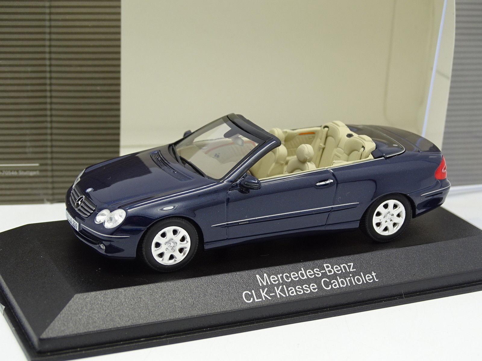Envío 100% gratuito Minichamps 1 43 43 43 - Mercedes CLK Cabriolet Azul 2004  servicio honesto