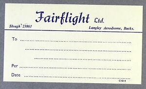 FAIRLIGHT-LTD-VINTAGE-ORIGINAL-AIRLINE-LUGGAGE-LABEL-BAGGAGE-BAG