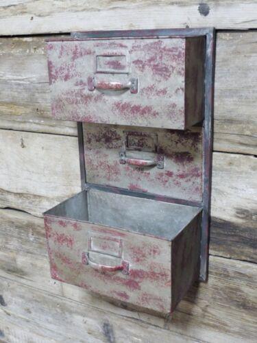 Industrial Metal Red Wall Storage Shelf Cube Coat Hook Rack Tool boxes Shelving