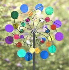 Wind Spinners For The Garden Outdoor Metal Yard Decor Whimsical Lawn Stake Wheel