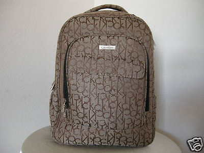 Authentic Calvin Klein Back Pack Luggage with Laptop Compartment Brown