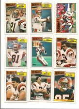 1987 Topps Cincinnati Bengals Football Card Team Set (14 Different)