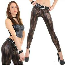 glanz gold-braun-bronze Leggins Schlangen Look wetlook glänzend sexy hot Party