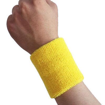 Poignet coloré sueur bandeau sport Gym Sweatband Fitness serviette Déguisements